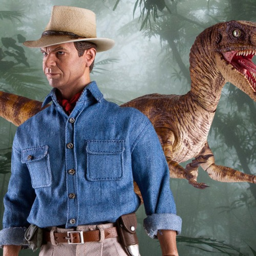 [21.1분기 발매예정]Chronicle Collectibles Dr. Alan Grant and Velociraptor Sixth Scale Figure Set